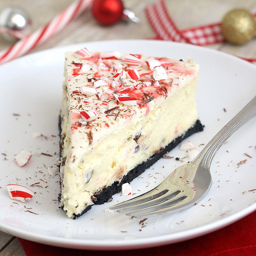 White Chocolate Peppermint Bark Cheesecakefrom Baked By Rachelcrust2 Cups Chocolate Cookie Crumbs (about 22 Oreos)3 Tablespoons Unsalted Butter, Meltedpinch Saltfilling3 (8 Oz) Packages Cream...
