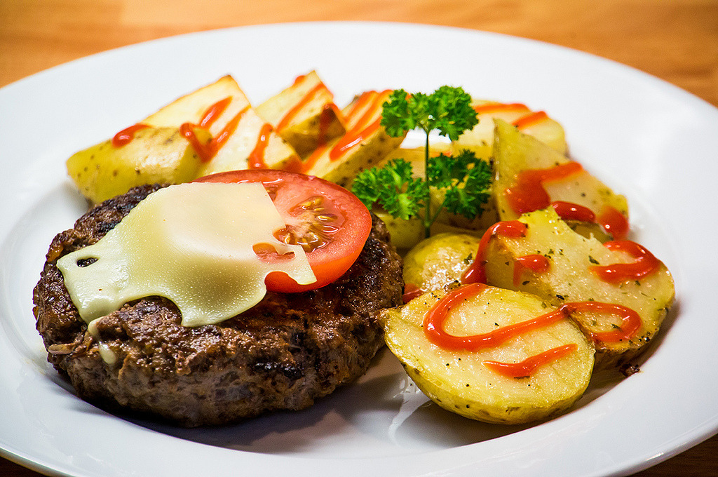 Burger With Wedges (by Tim Easley)