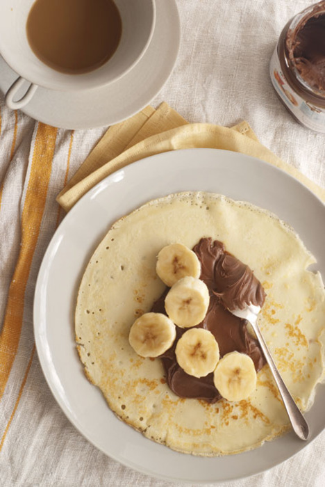Banana, Pancake, Chocolate