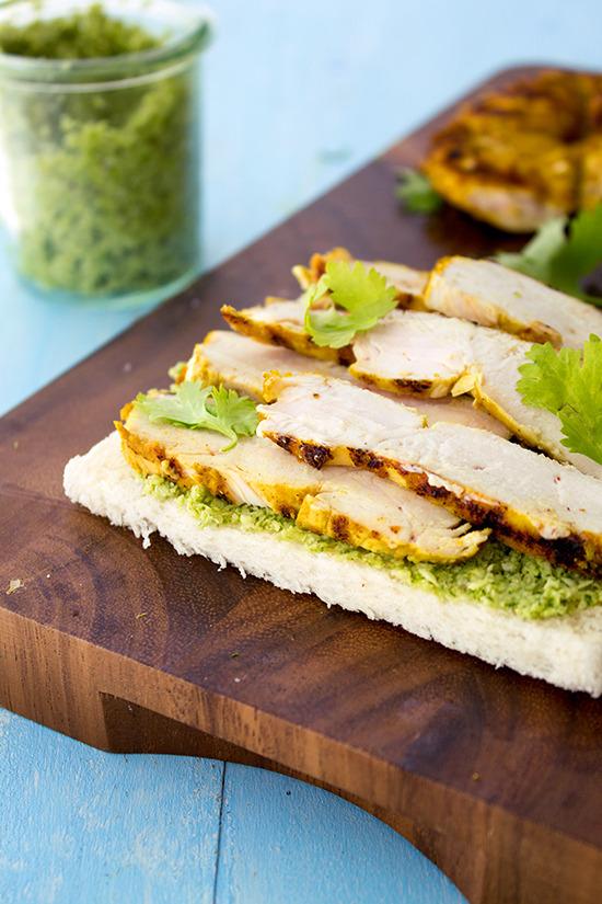 Chicken & Chutney Sandwiches