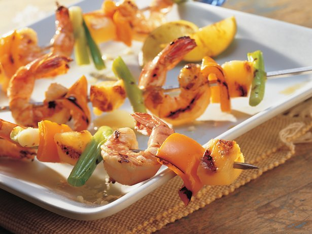 Grilled Spicy Shrimp, Pepper and Pineapple Kebob via beauiful-foods