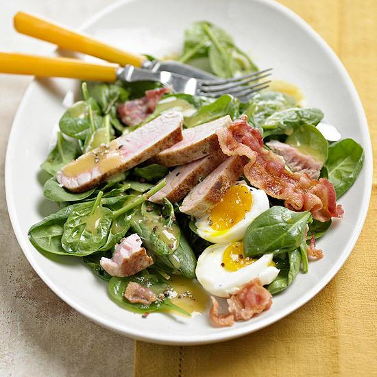 Bacon, Egg, Spinach & Tuna Salad