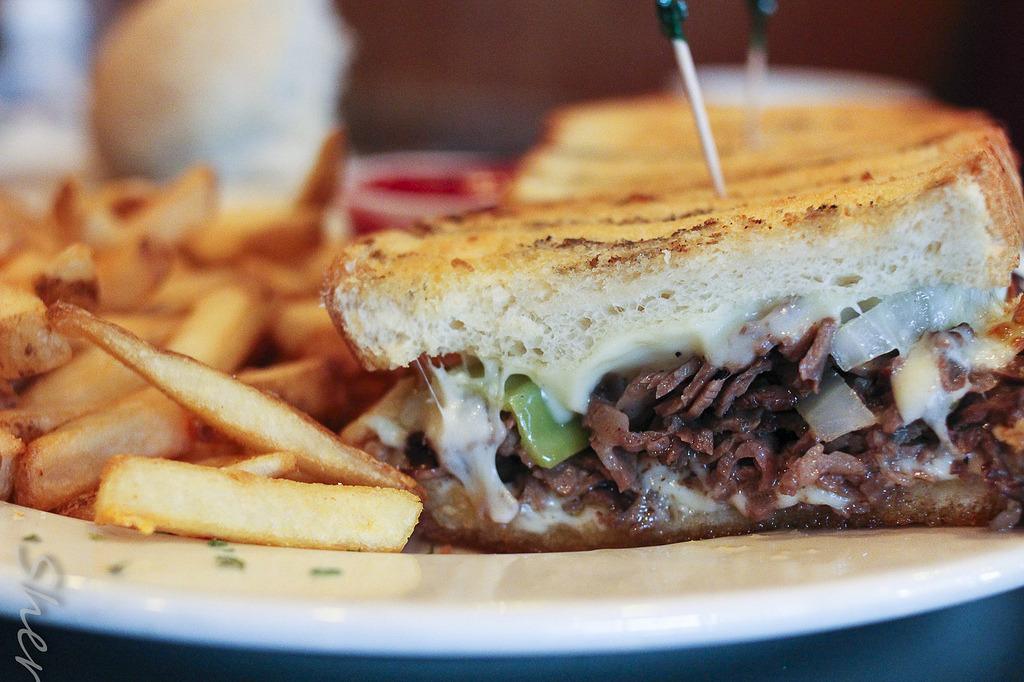 Ribeye Steak Sandwich w/ Hot Peppers