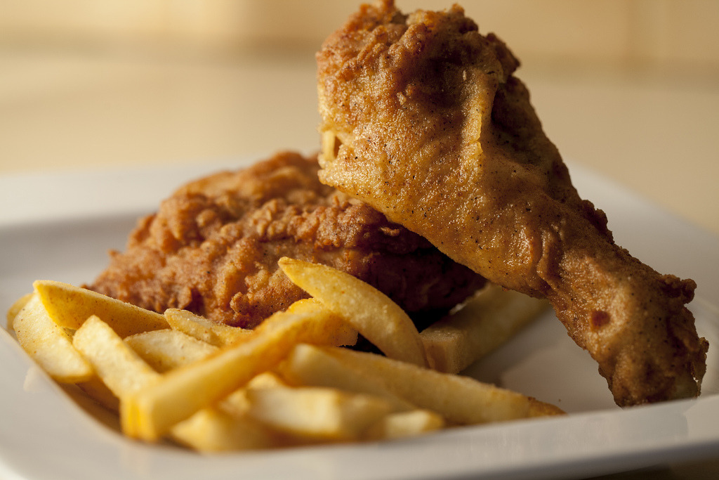 Southern Fried Chicken and Fries