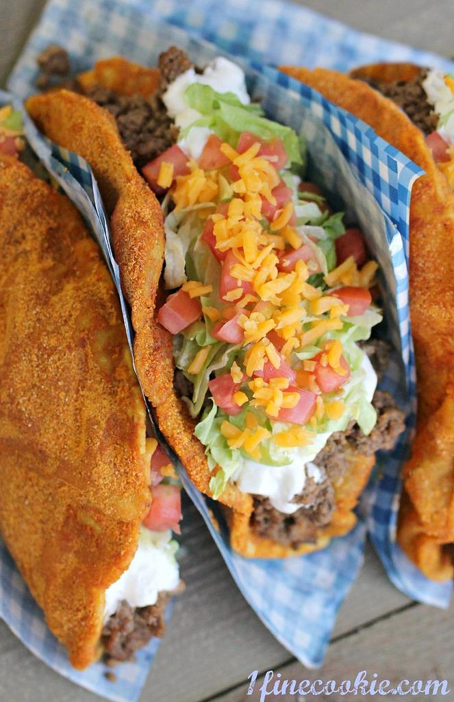 Homemade Doritos Locos Tacos