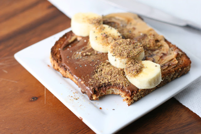 Peanut butter cup toast by Florida Coastal Cooking