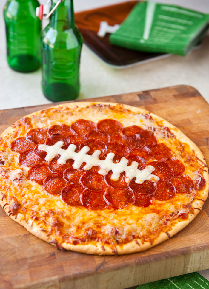 Recipe: Football Pepperoni Pizza