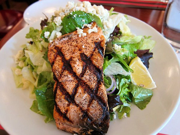 Salmon salad @ The Rosebud by Dave Rozek on Flickr.
