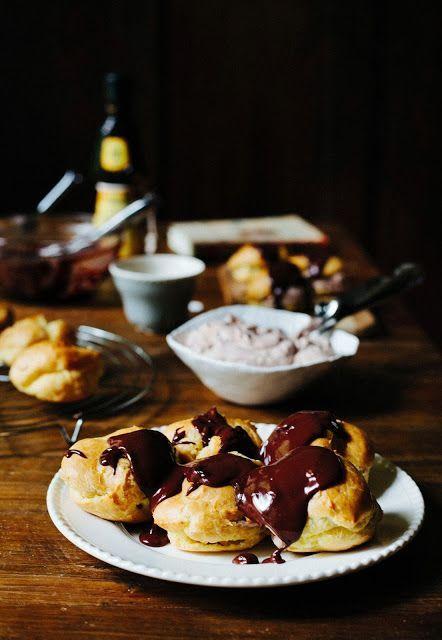 Chocolate Hazelnut Cream Puffs