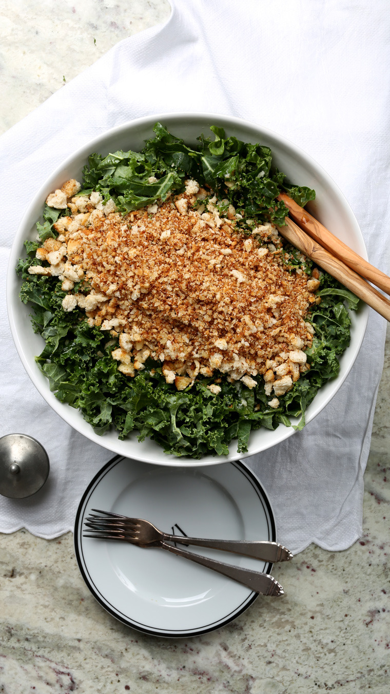 (via Kale Salad with Brown Butter Breadcrumbs Earthy Feast)