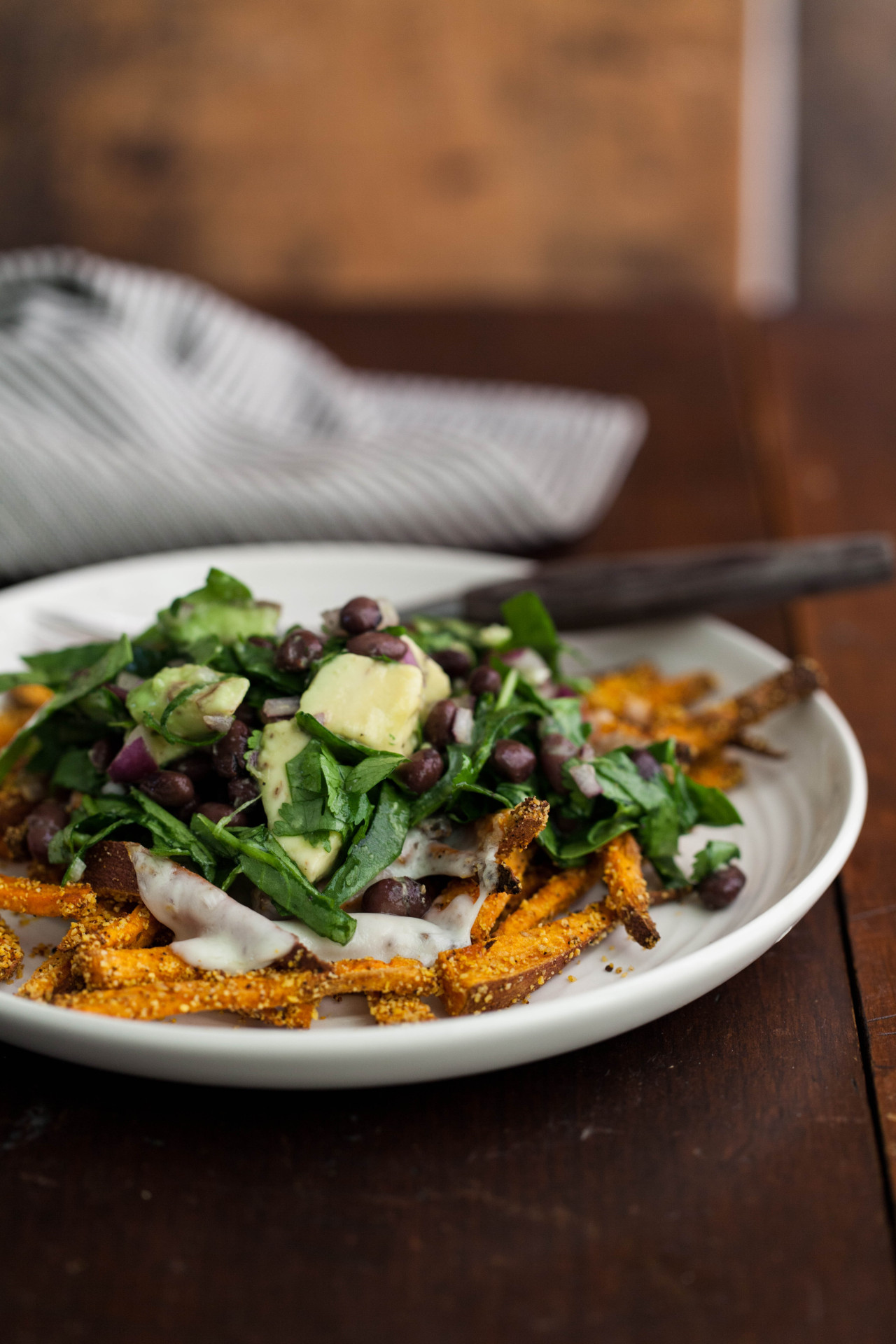 Southwest Loaded Sweet Potato Fries