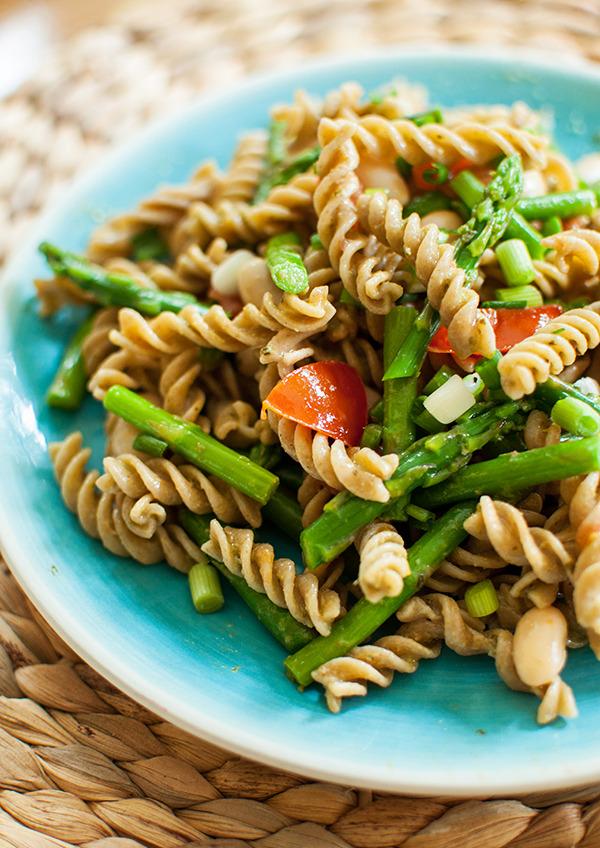 Asparagus & White Bean Pesto Pasta