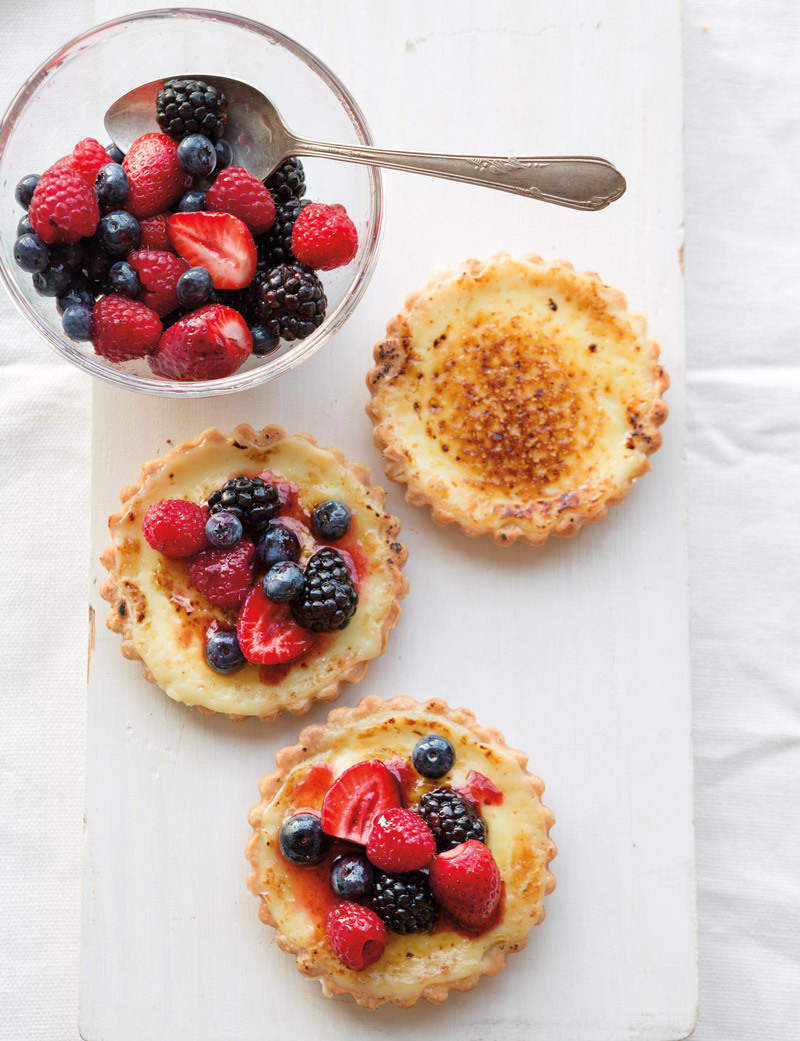 Buttermilk Tartlets with Fresh Berries