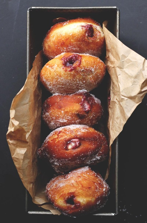 Blackberry Jam & Custard Donuts The Sugar Hit