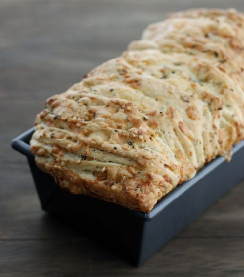 Cheesy Garlic Herb Pull Apart Bread Bakeolgy By Lisa