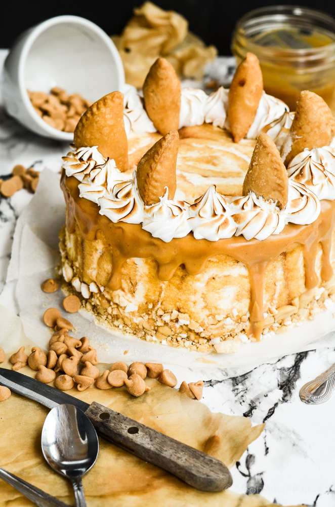 Peanut butter pie mousse cake