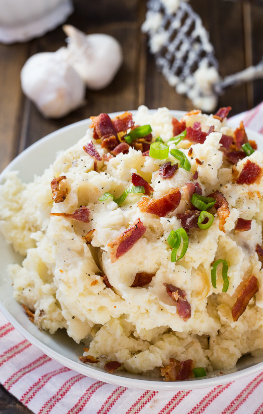 Roasted Garlic and Bacon Mashed Potatoes Spicy Southern Kitchen