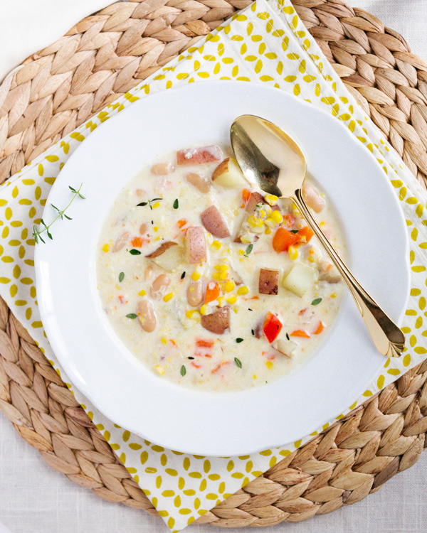 Corn and White Bean Chowder