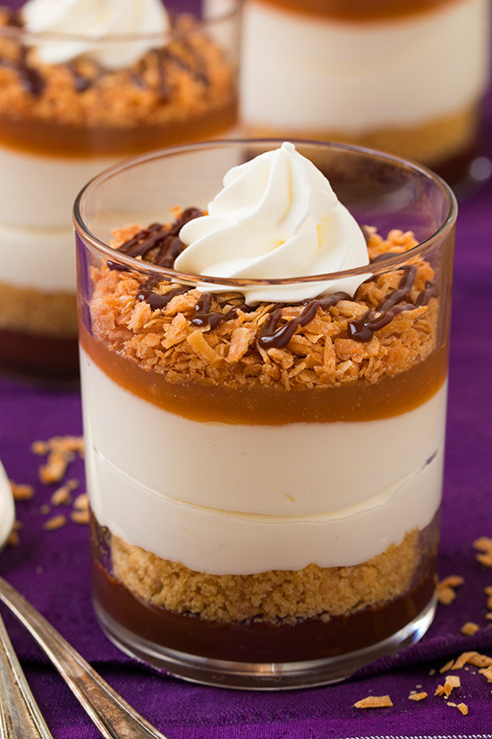Samoa Cheesecakes