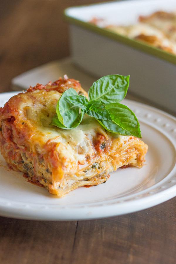 Spinach and Artichoke Chicken Lasagna