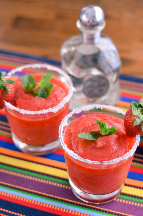 Strawberry Mint MargaritasReally nice recipes. Every hour.
