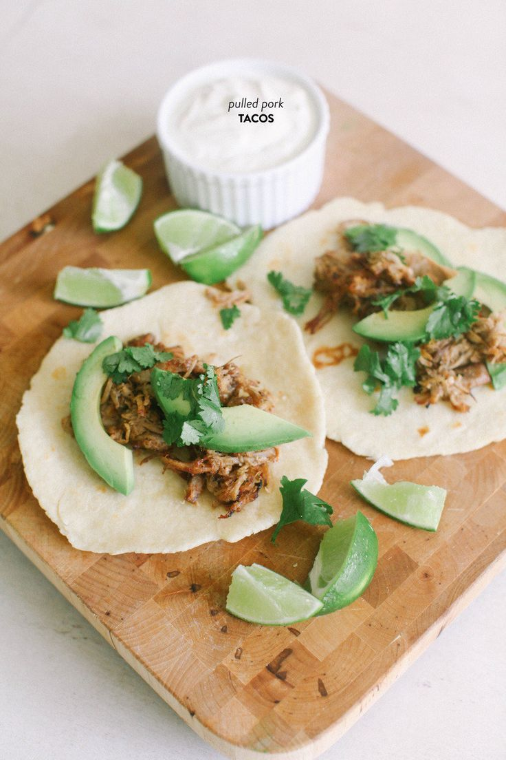 Pulled Pork Tacos with Homemade Tortillas and Lime
