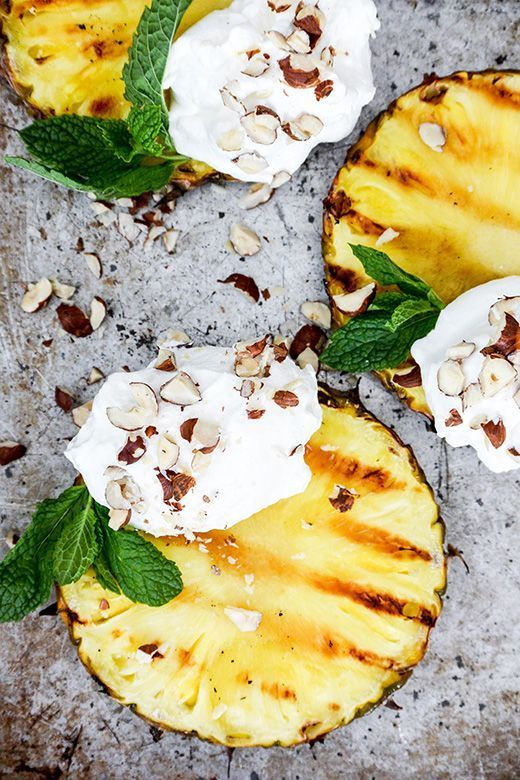 Grilled Pineapple with Coconut-Whipped Cream Floating Kitchen