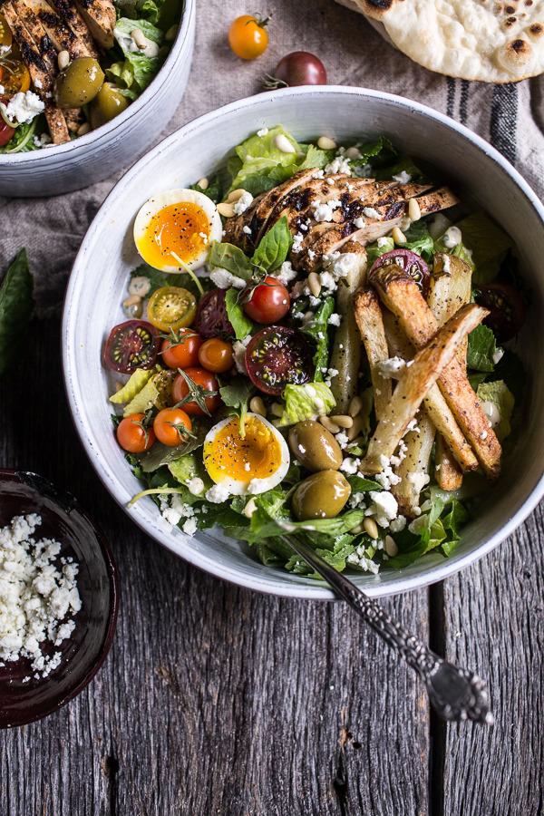 Greek Chicken Gyro Caesar Salad