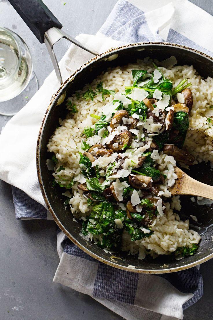 Garlic Butter Mushroom Risotto (via http